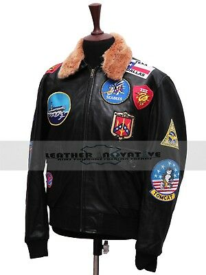 Tom Cruise Pete Maverick Top Gun Flight Bomber Jacket for Men Fur Trimmed Collar