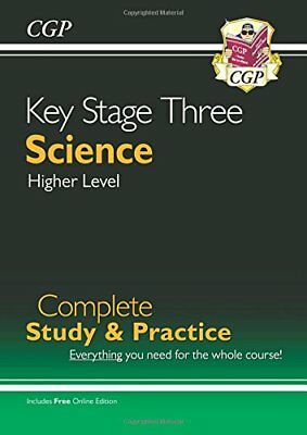 New KS3 Science Complete Study & Practice - Higher (wi by CGP New Paperback Book