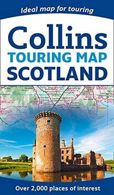 Scotland Touring Map by Collins Maps New Paperback Book