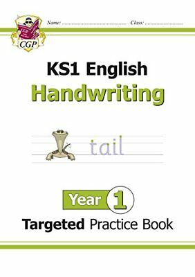 KS1 English Targeted Practice Book: Handwriting - Year by CGP New Paperback Book
