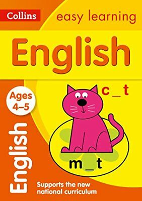 English Ages 4-5: New Edition (Colli by Collins Easy Learning New Paperback Book