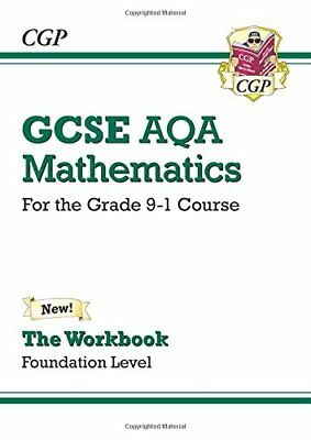 GCSE Maths AQA Workbook: Foundation - for the Grade 9- by CGP New Paperback Book
