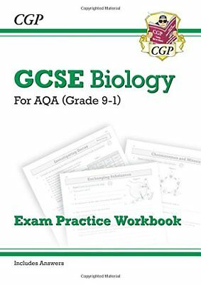 New Grade 9-1 GCSE Biology: AQA Exam Practice Workbook by CGP New Paperback Book