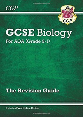 New Grade 9-1 GCSE Biology: AQA Revision Guide with On by CGP New Paperback Book