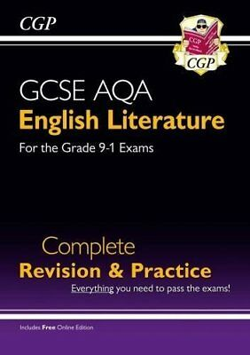 New GCSE English Literature AQA Complete Revision & Pr by CGP New Paperback Book