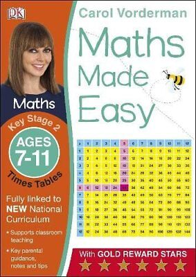 Maths Made Easy Times Tables Ages 7-11 Key by Carol Vorderman New Paperback Book