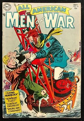All-American Men Of War #15 1954 Solid  Vg  4 Great Stories Grandenetti Cover