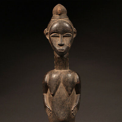 Antique African Statue, baule female figure