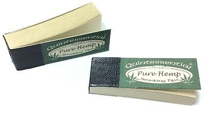 Quintessential PURE HEMP Smoking Filter Roach Rolling Tips Papers Chlorine Free