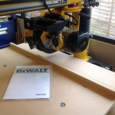 Dewalt Radial Arm Saw Brand New Table Top To Fit  DW720 18mm. Mdf  FREE POSTAGE