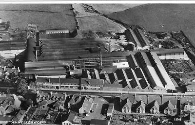 Denny Ironworks Air Aerial View Falkirk unused RP pc Aero Pictorial Ref A74