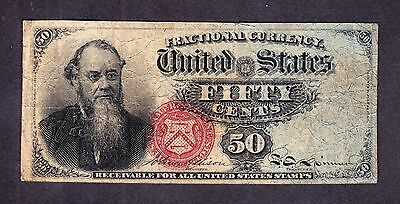 US 50c Stanton Fractional Currency Note 4th Issue FR 1376 VF -001