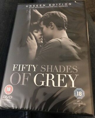 Fifty Shades Of Grey Dvd Unseen Edition New & Sealed
