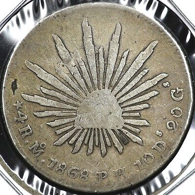1868Mo-PH FOUR 4 REALES MEXICO