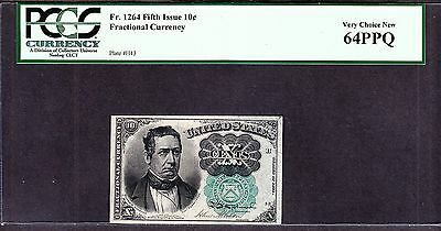 US 50c Fractional Currency 5th Issue Plate# H-43 FR 1264 PCGS 64 PPQ Gem CU