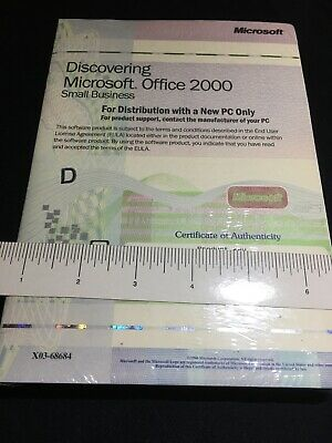 Genuine Microsoft Office 2000 Small Business Edition CD, New in shrink wrap