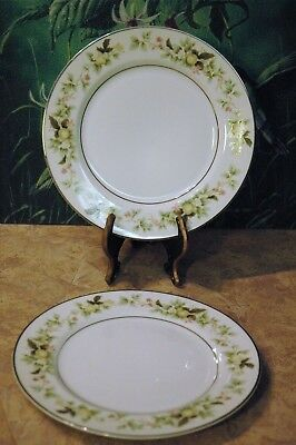 "Premiere Fine China - PICKWICK - Made in Japan - B8013 - 7 5/8"" Salad Plates (2)"