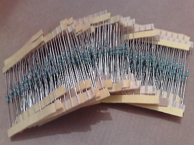 OVER 500pcs 1/4W 1% METAL FILM RESISTORS * HIGH STABILITY * ASSORTED  VALUES *