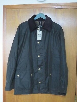 New With Tags Men's Barbour Ashby Waxed Jacket Original Tartan Size Large Olive