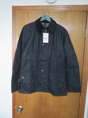 New With Tags Men's Barbour Ashby Waxed Jacket Original Tartan Size Medium Navy