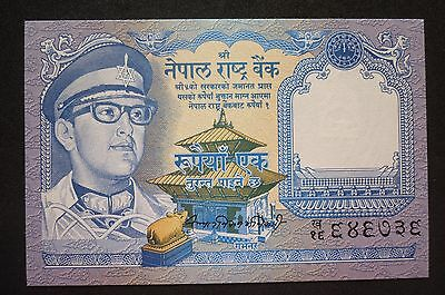 NEPAL Re.1  BANKNOTE -  1974   -  CRISP UNCIRCULATED