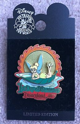 Disney DLR First 1st Day of Summer 2005 Tinker Bell Pin LE 1000 NEW NOC