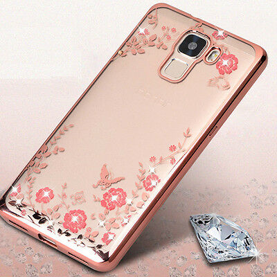 Bling Glitter Diamond Clear TPU Silicone Soft Case Cover For Huawei P9 P10 Lite