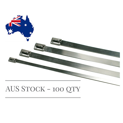 Stainless Steel Cable Ties 300mm x 4.6mm (100pcs)