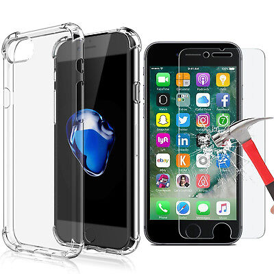Apple iPhone X 8 7 6 Plus Case Shockproof Crystal Clear TPU Silicon Bumper Cover