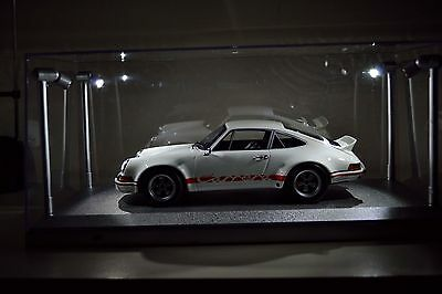 Display case with LED Lights 1:18 scale model cars - Seller is AWAY