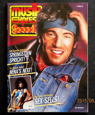 Musik Express Sounds 06/85 Cover:Bruce Springsteen; Nena, Vanity, Götz George