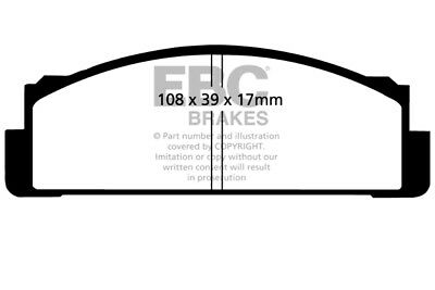 EBC Yellowstuff Front Brake Pads for FSO 1500 1.5 (81 > 92)