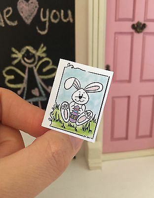 Miniature Card - Fairy Door Accessories - Easter Bunny