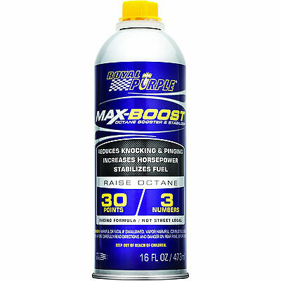 Octane Booster Royal Purple Max Boost Additivo Racing Benzina Aumento Ottani