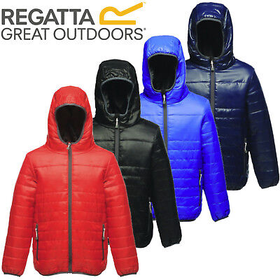 Kids Regatta Stormforce Padded Insulated Thermal Jacket Coat Boys Girls Childs
