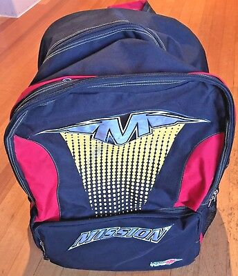 Mission Type M Large Backpack Bag Ice Inline Hockey - little use