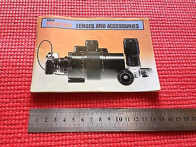Vintage Asahi Pentax Lenses and Accessories Catalogue Booklet