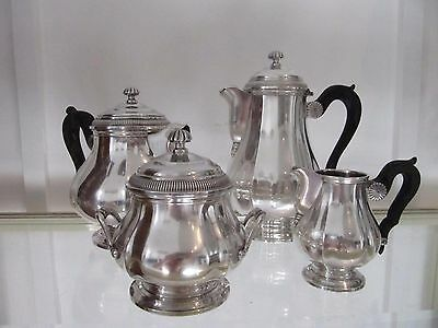 Gorgeous french sterling 950 silver tea coffee set 4p Gadroons Christofle 1868g