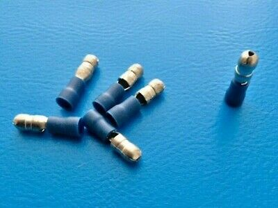 Bullet Connector (Male) - Blue - Pack Size 12, 50 or 100