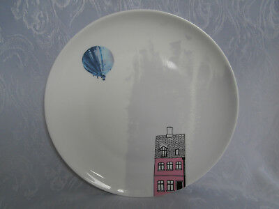 ROYAL WORCESTER UP UP AND AWAY HOT AIR BALLOON PATTERN 8 Inch PLATE RARE NEW