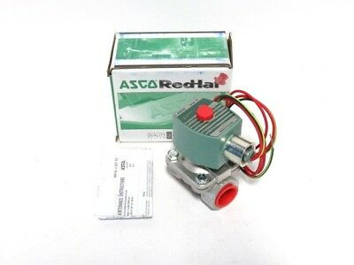 """1//4/"""" ASCO 8262H038 2W NC 120//60 Stainless Steel Solenoid Valve NEW IN BOX"""