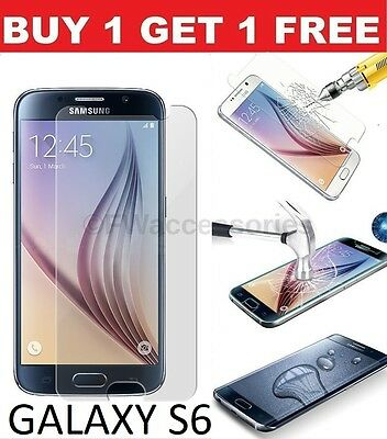 Real Tempered Glass Film Lcd Screen Protector For Samsung Galaxy S6 New -