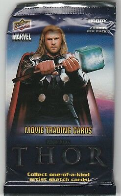 Upper Deck Marvel THOR Hobby Booster Pack English Sealed Movie Trading Cards