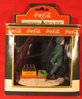 "Coca-Cola Town Square Collection Accessory, Figure, ""Bringing It Home"" NIB 7960"