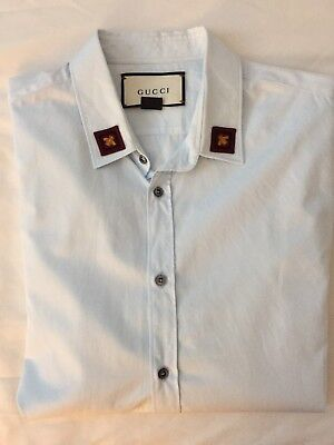 771c56397 GUCCI OXFORD DUKE Shirt Embroided Collar 'Iconic Bee' - $433.74 ...