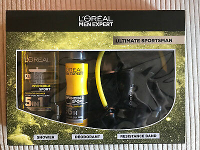 L'Oreal Men Expert Ultimate Sportsman Set 3-Piece GIFT SET SHOWER DEODORANT BAND