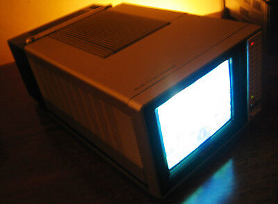 Vintage 1984 Sharp MINI Portable TV Color CRT Television - MADE IN JAPAN  - RARE