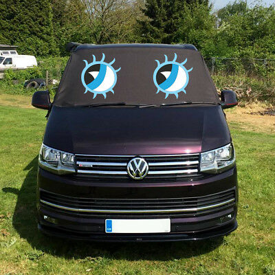 VW Transporter T6 Window Screen Curtain Cover Wrap Frost Blinds Eyes Blue Deluxe