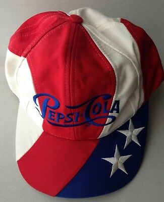 Pepsi Cola Embroidered Single Dot Logo Cap Hat-Vintage- Near Mint Condition