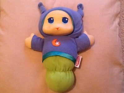 PlaySkool Blue Lullaby GloWorm Glow Worm Night Light Lullaby Soft Toy